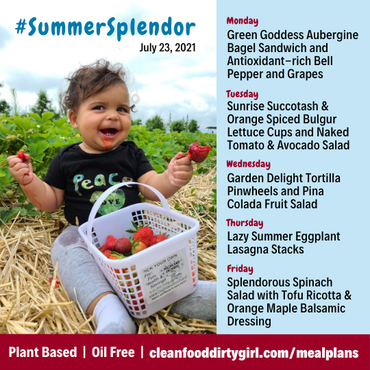 Summer Splendor Menu-Plant Based Meal Plan