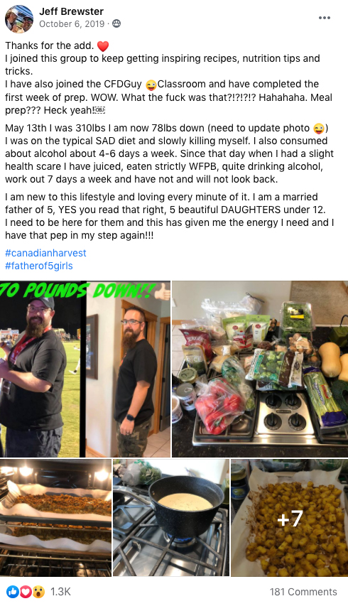 Lost weight plant based diet
