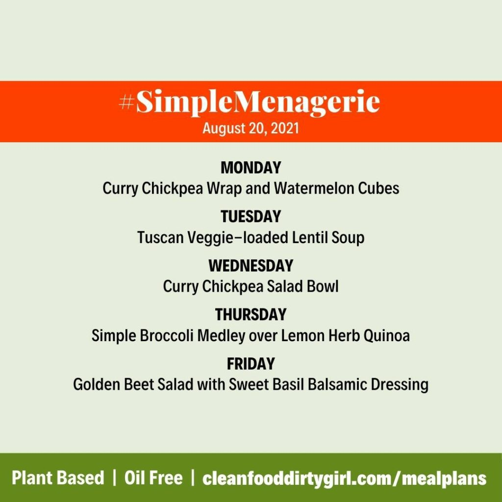 #SimpleMenagerie gluten free meal plan