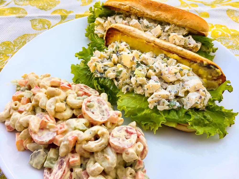 Lobsta Roll with Creamy Macaroni Salad plant based recipe