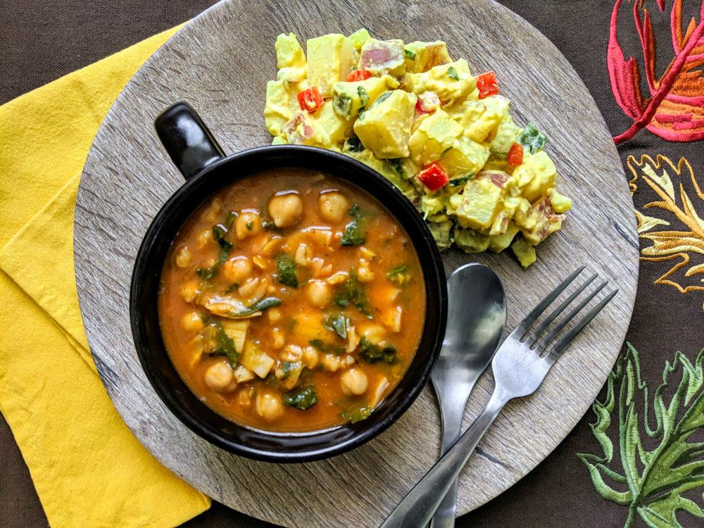 plant based rustic tomato & artichoke soup favorite