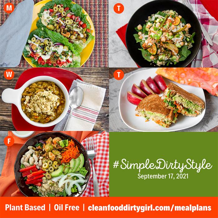 Simple Dirty Style Vegan Plant Based Menu