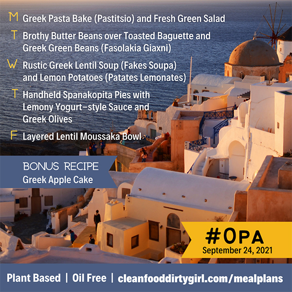 Opa Greek Whole Food Plant Based Meal Plan CFDG