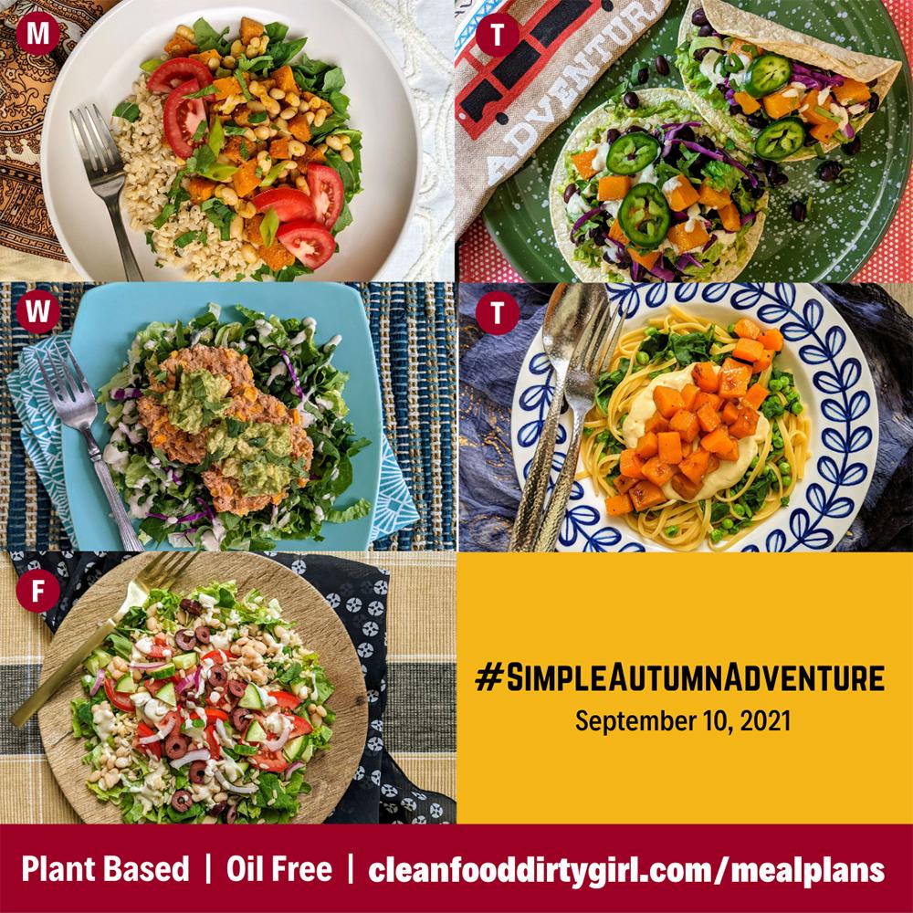 Simple Gluten Free Autumn Adventure Meal Plan