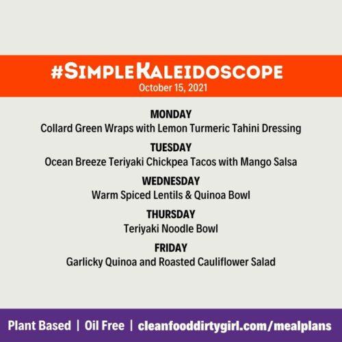 simple Kaleidoscope plan menu